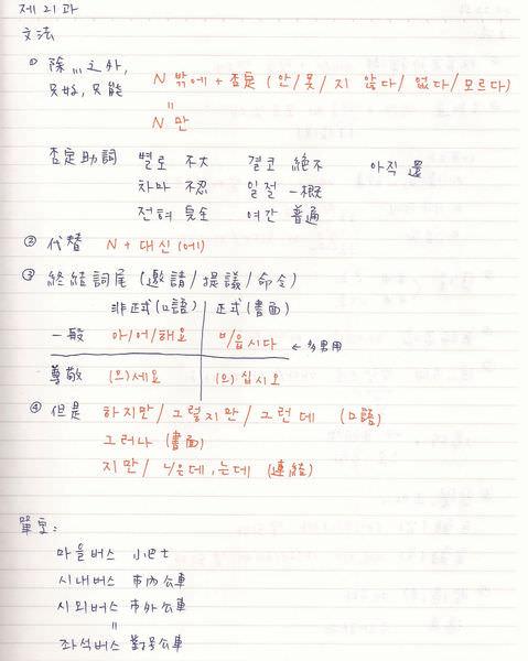 韓文21課-1