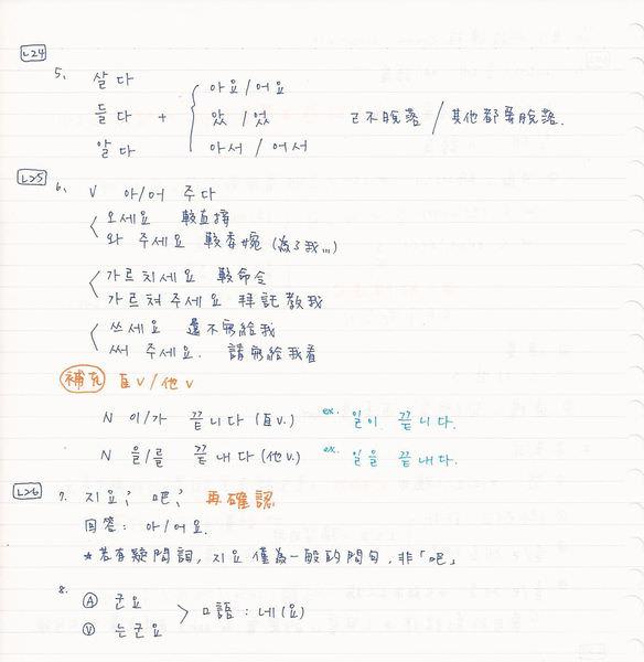 韓文初級課程2